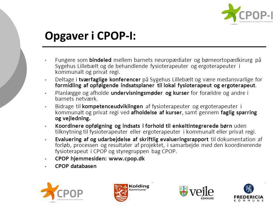 Opgaver i CPOP-I: