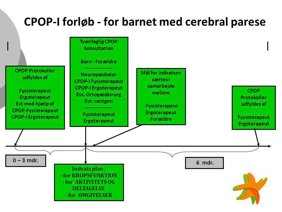 CPOP-I forløb - for barnet med cerebral parese