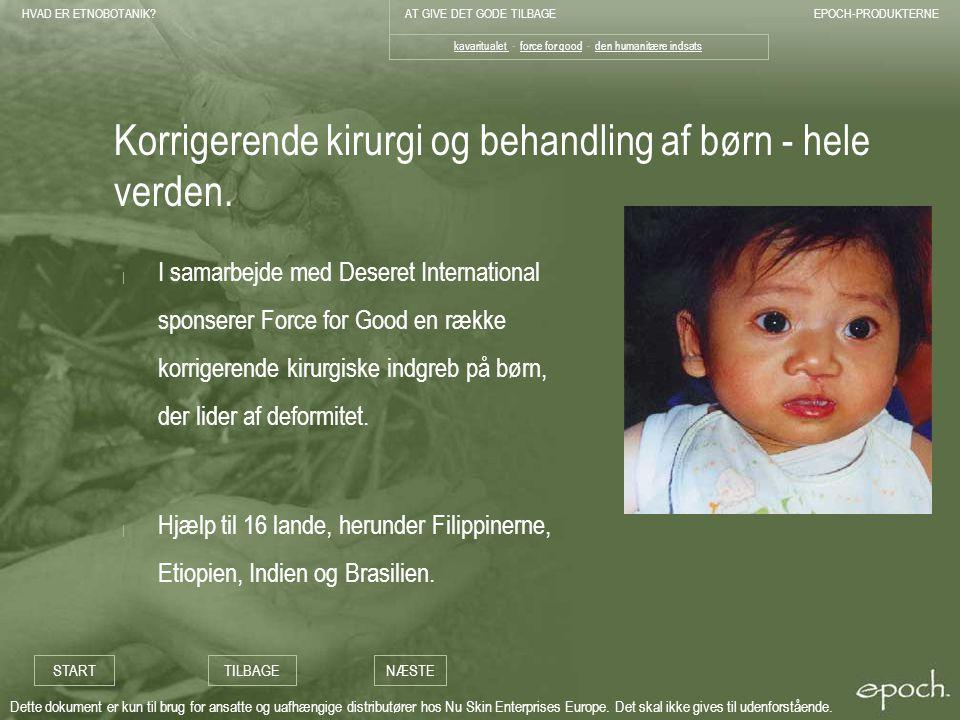 Korrigerende kirurgi og behandling af børn - hele verden.