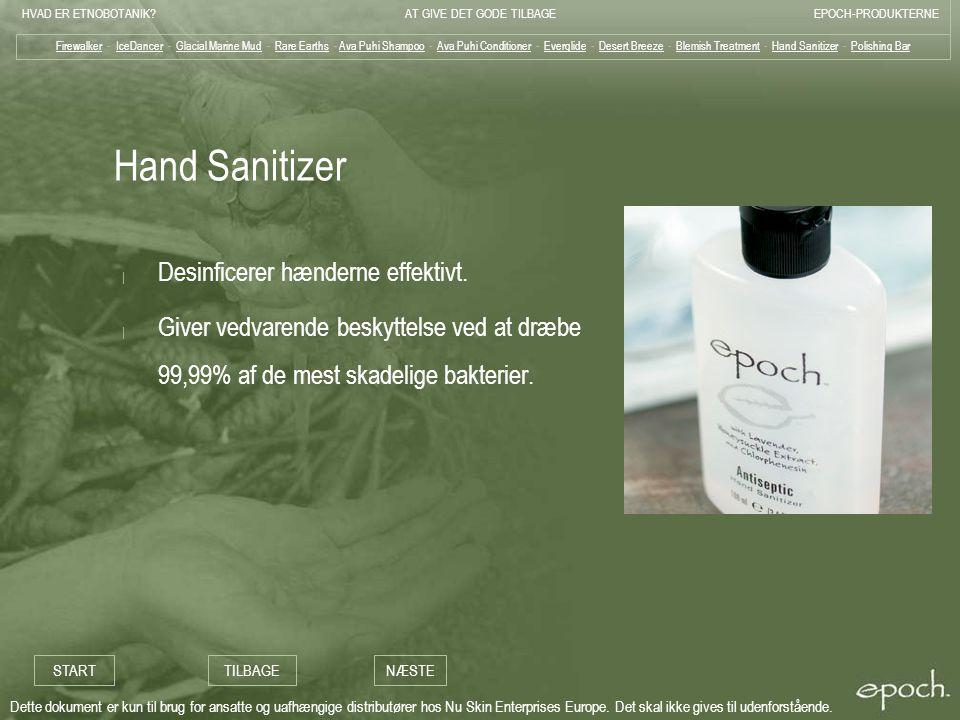 Hand Sanitizer Desinficerer hænderne effektivt.