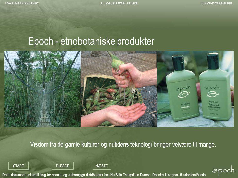 Epoch - etnobotaniske produkter
