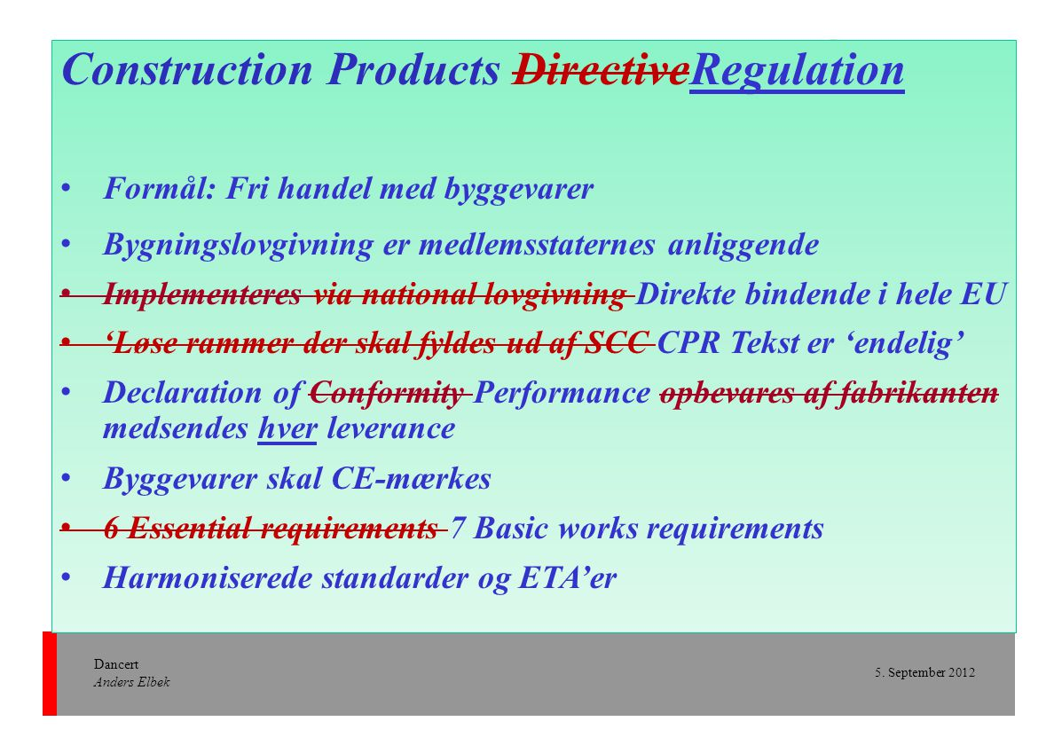 Construction Products DirectiveRegulation