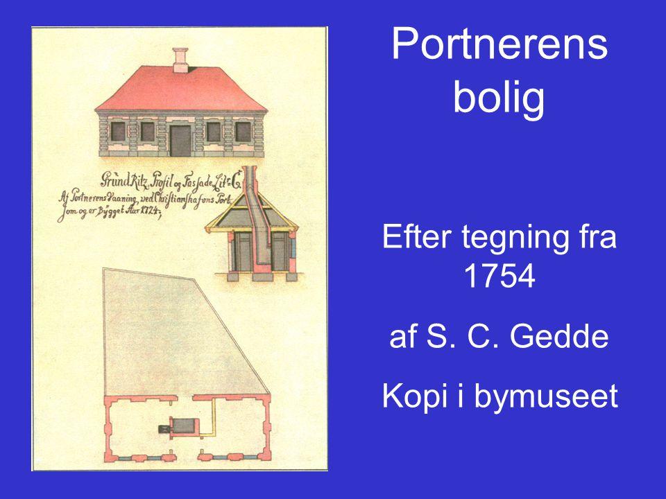 Portnerens bolig Efter tegning fra 1754 af S. C. Gedde Kopi i bymuseet