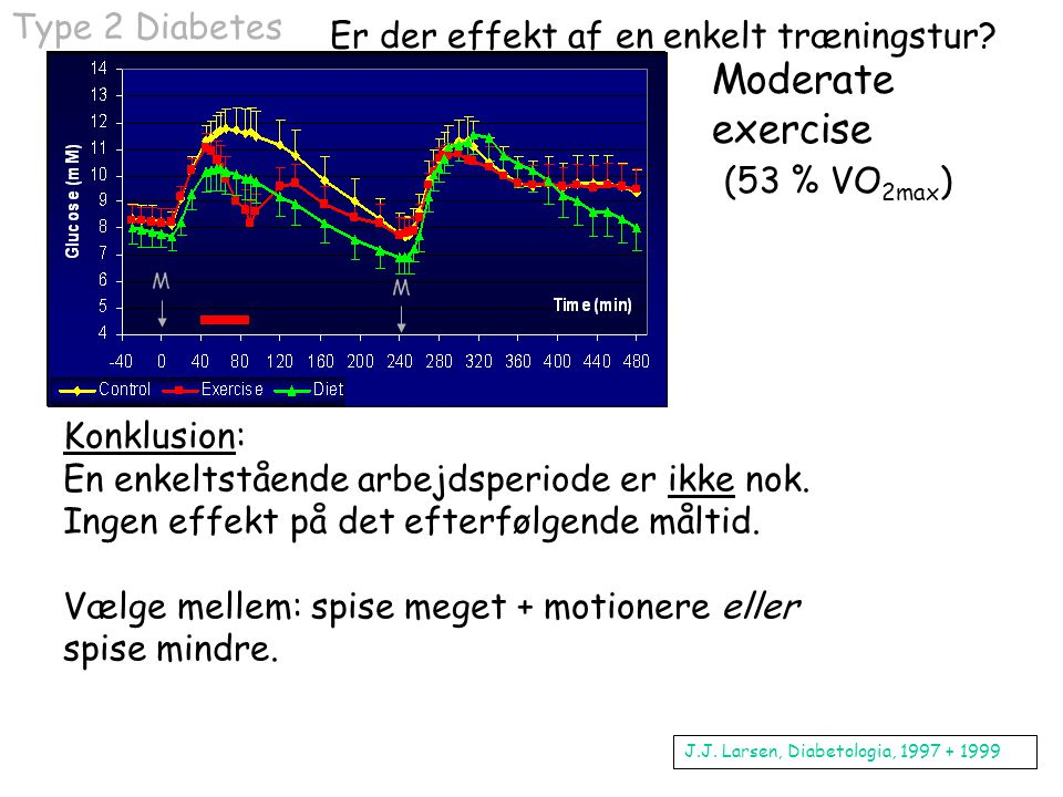 Moderate exercise (53 % VO2max)