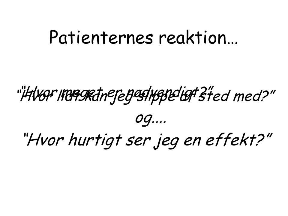 Patienternes reaktion…