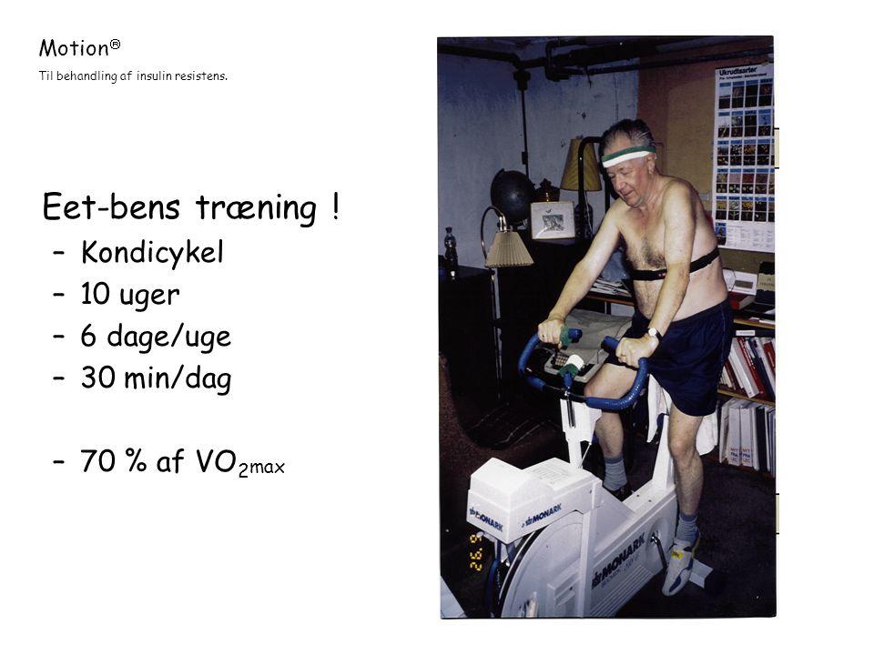 Eet-bens træning ! Kondicykel 10 uger 6 dage/uge 30 min/dag