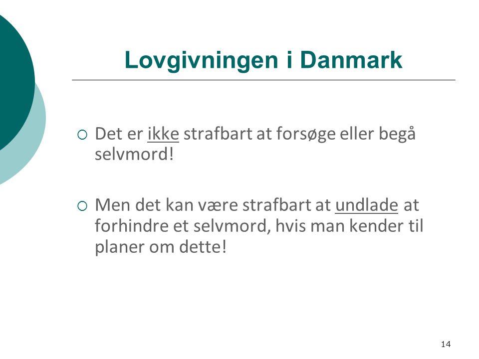 Lovgivningen i Danmark
