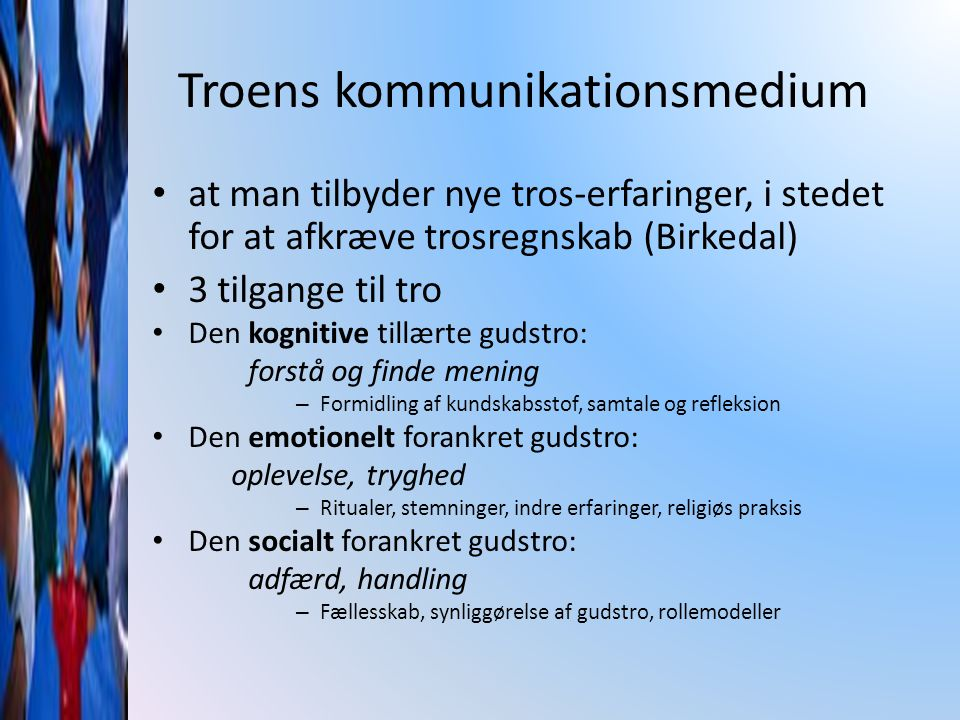 Troens kommunikationsmedium