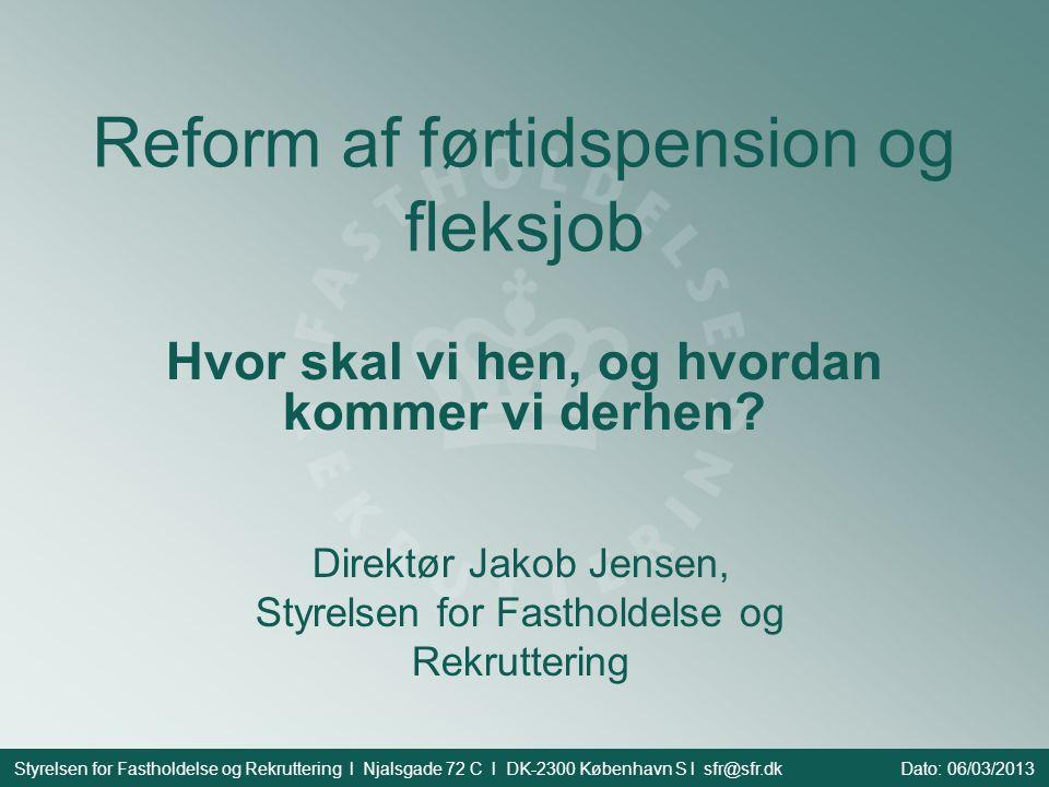 Reform af førtidspension og fleksjob