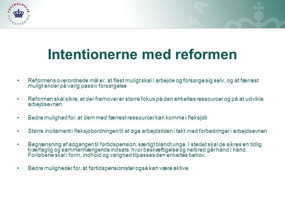 Intentionerne med reformen