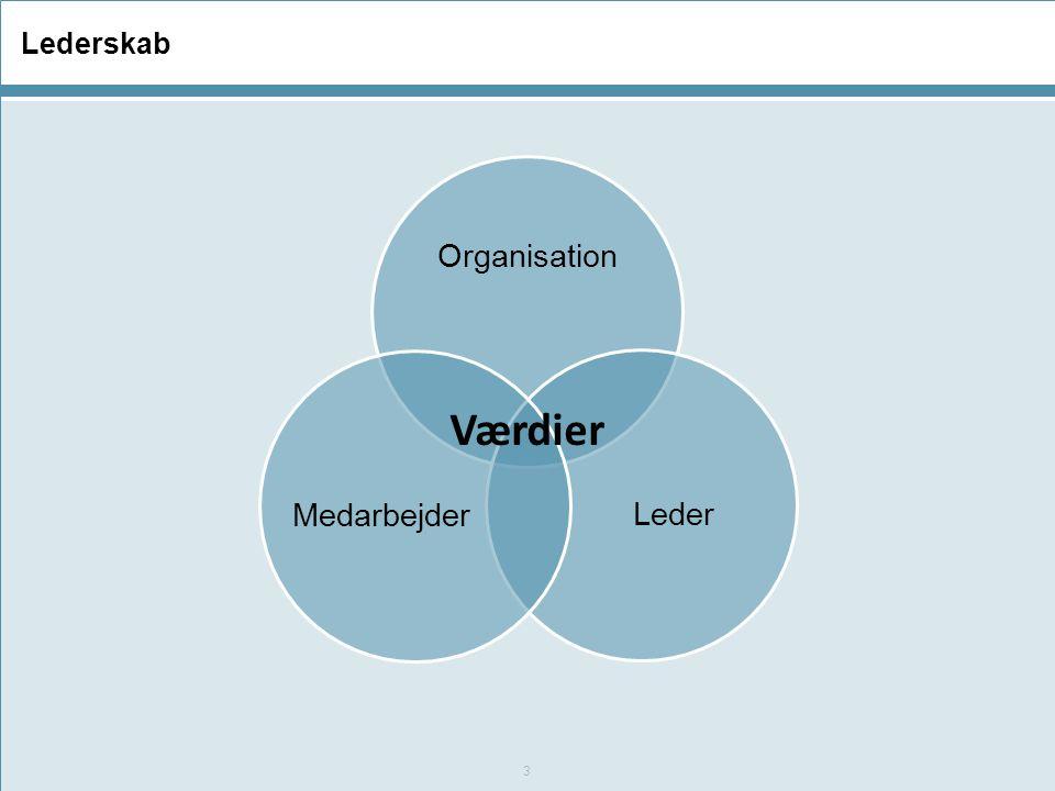 Lederskab Organisation Leder Medarbejder Værdier