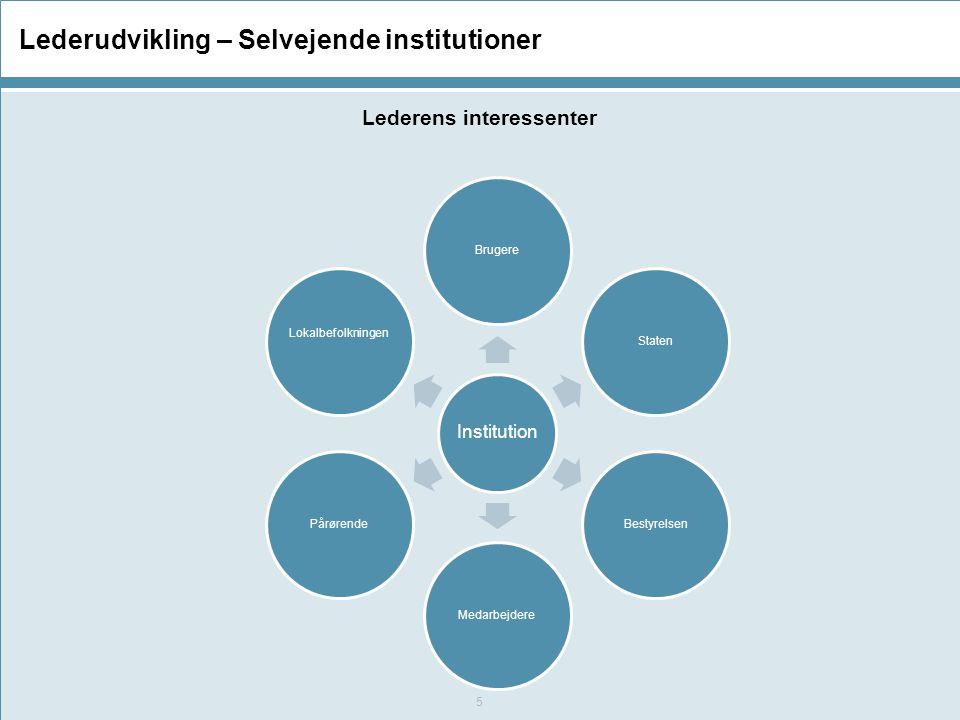 Lederudvikling – Selvejende institutioner