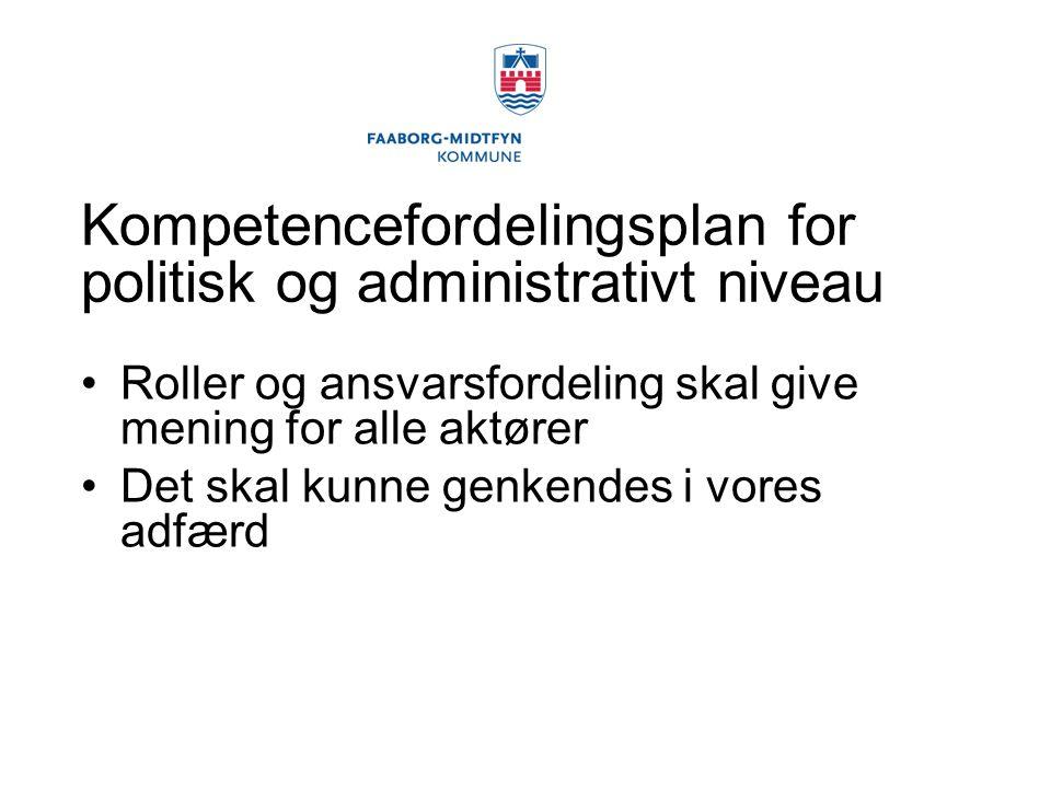 Kompetencefordelingsplan for politisk og administrativt niveau