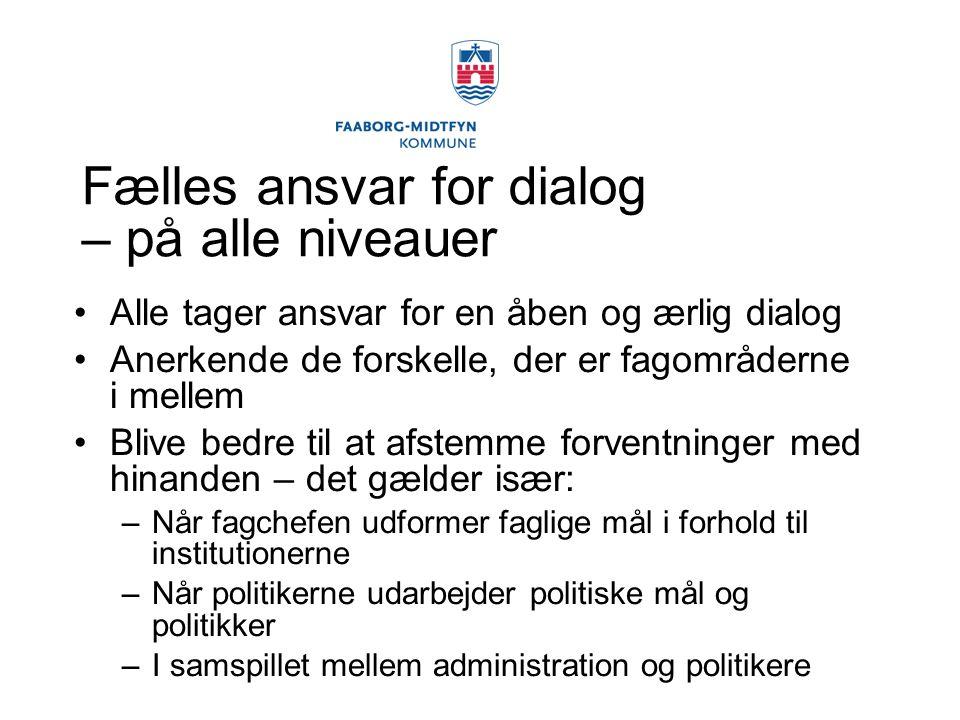 Fælles ansvar for dialog – på alle niveauer