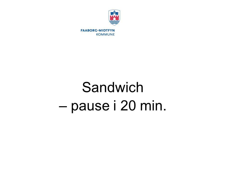 Sandwich – pause i 20 min.