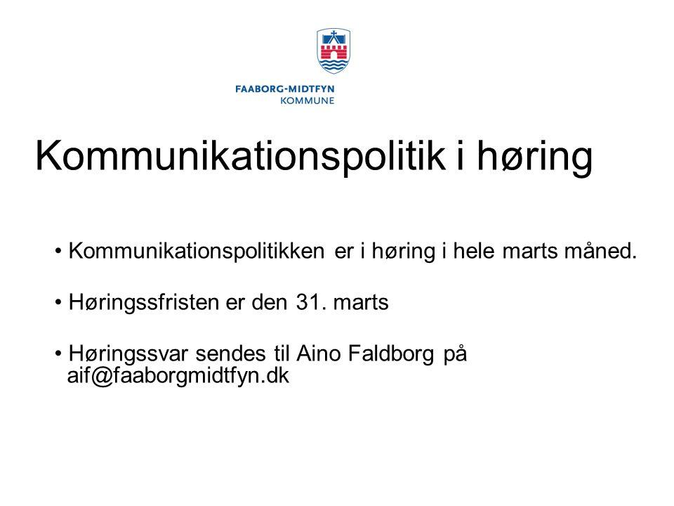 Kommunikationspolitik i høring