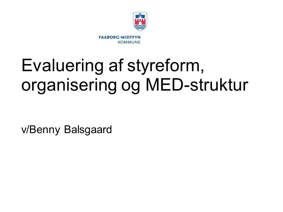 Evaluering af styreform, organisering og MED-struktur