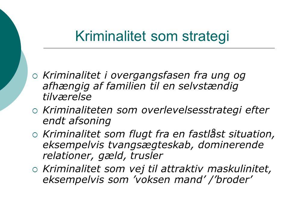 Kriminalitet som strategi