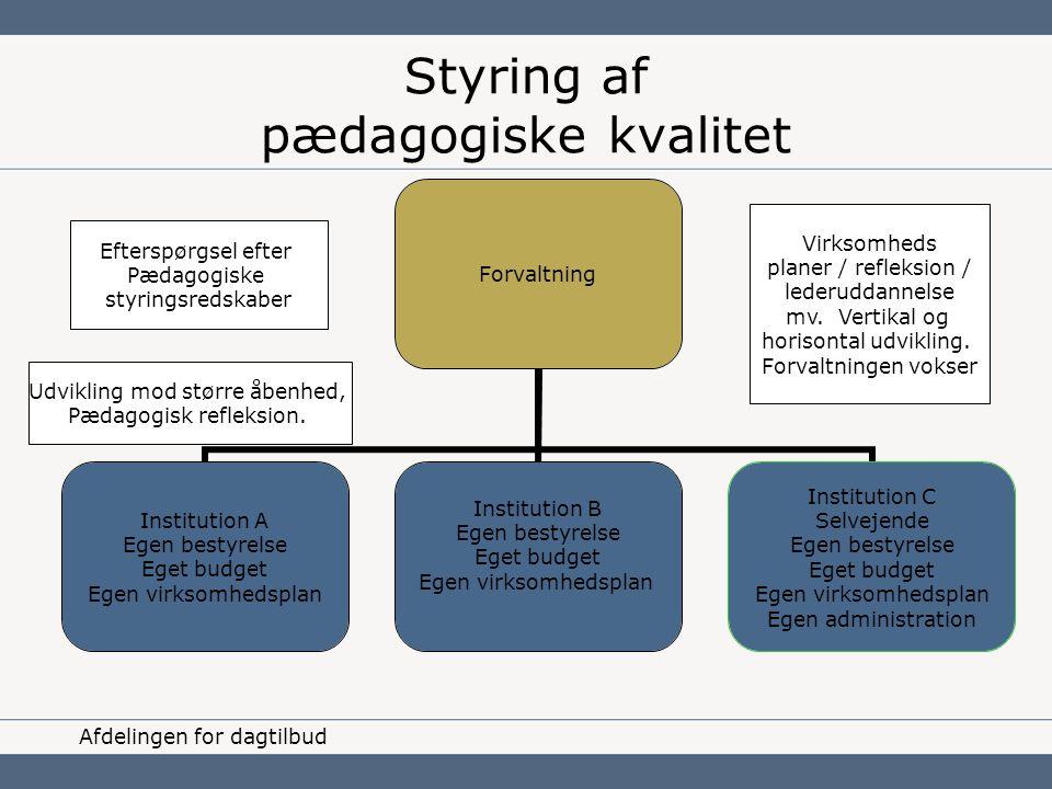Styring af pædagogiske kvalitet