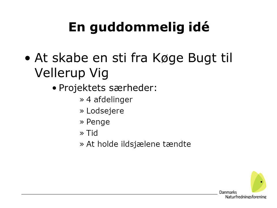 At skabe en sti fra Køge Bugt til Vellerup Vig