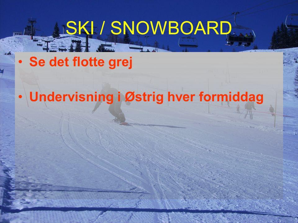 SKI / SNOWBOARD Se det flotte grej