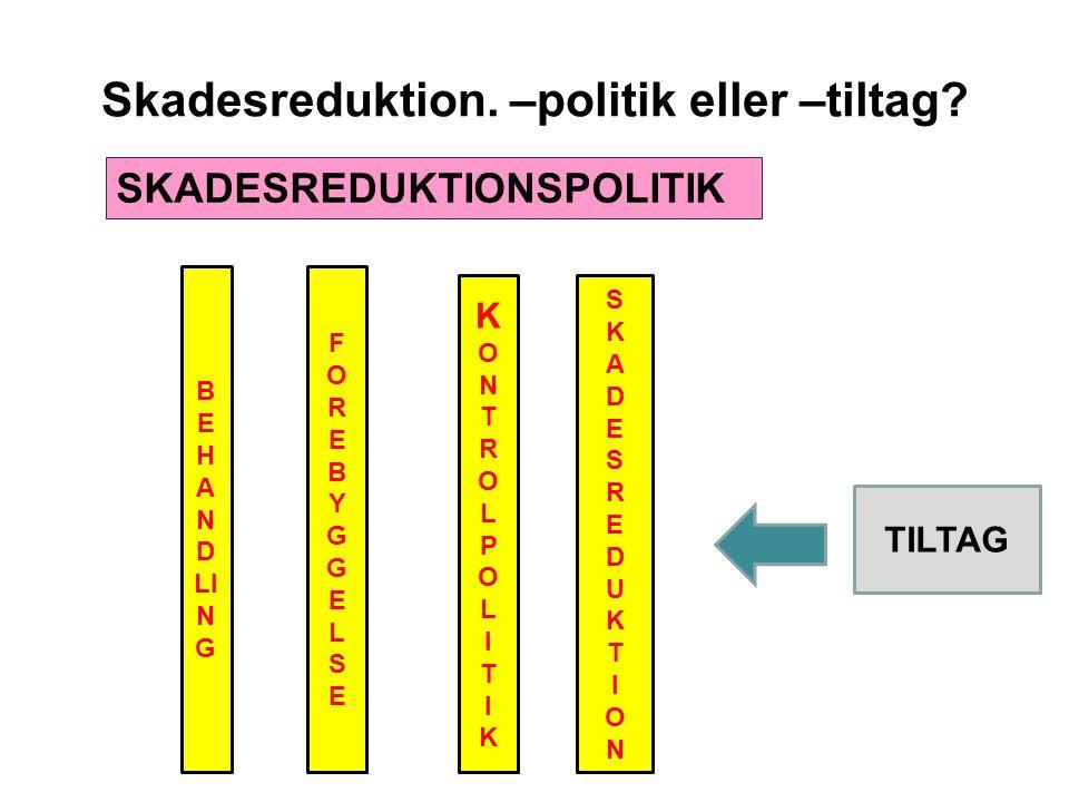 Skadesreduktion. –politik eller –tiltag