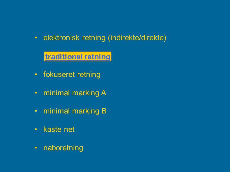 elektronisk retning (indirekte/direkte)
