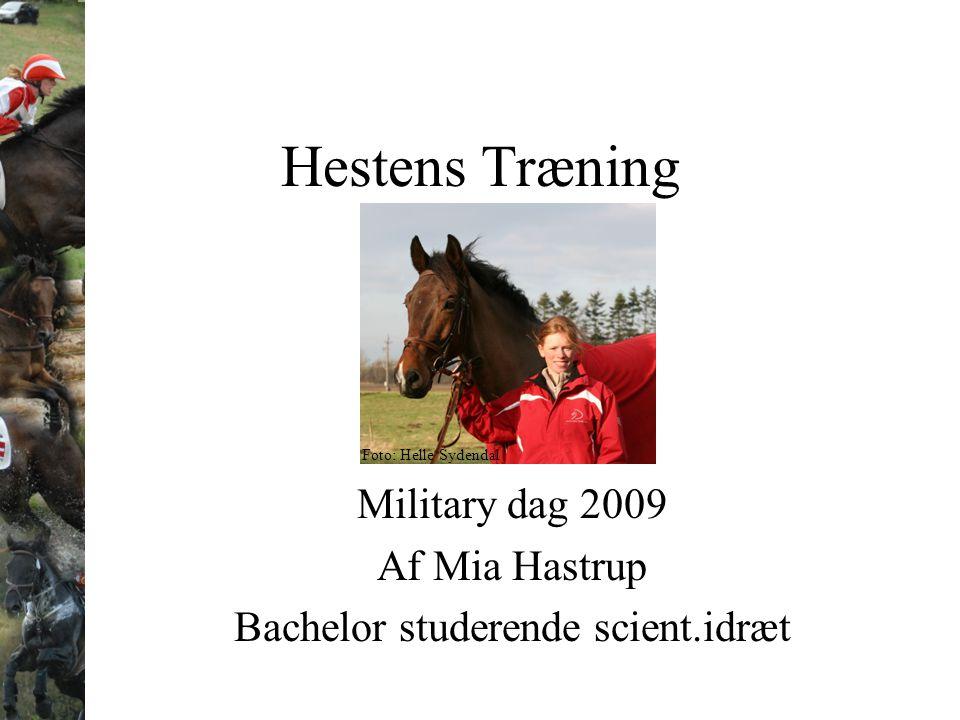 Military dag 2009 Af Mia Hastrup Bachelor studerende scient.idræt