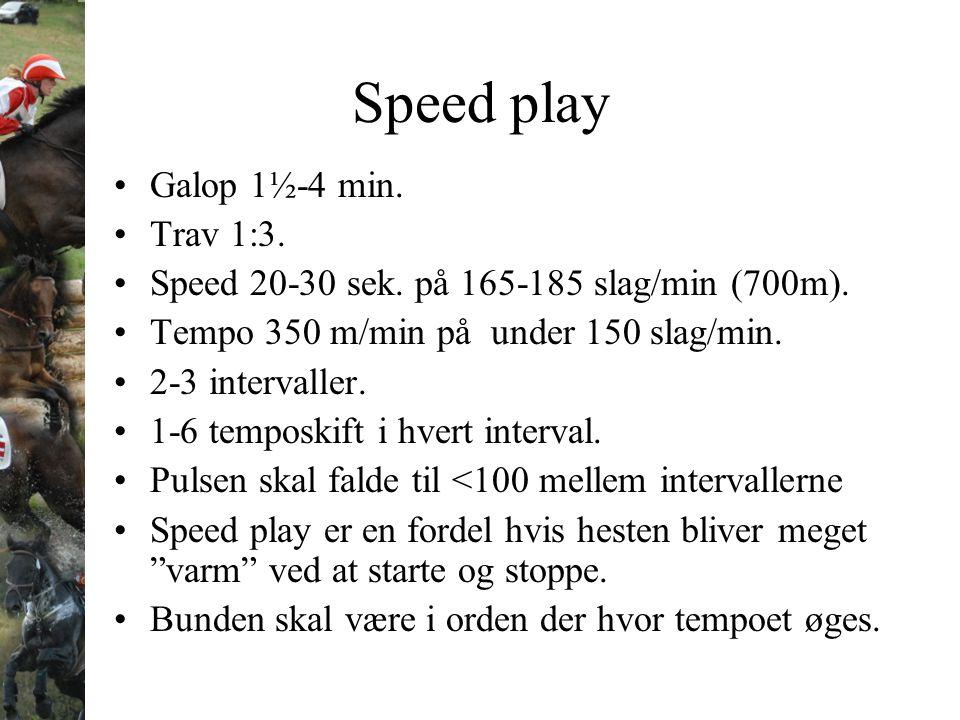 Speed play Galop 1½-4 min. Trav 1:3.