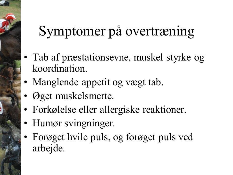 Symptomer på overtræning