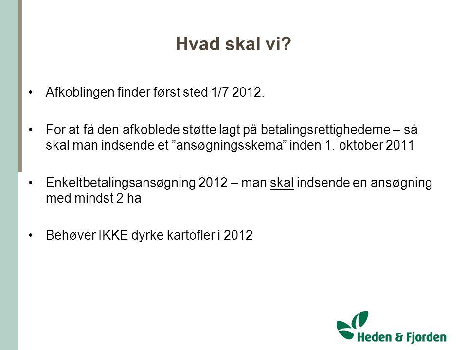 Hvad skal vi Afkoblingen finder først sted 1/7 2012.