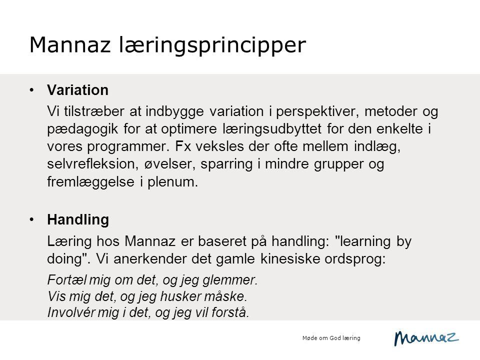 Mannaz læringsprincipper