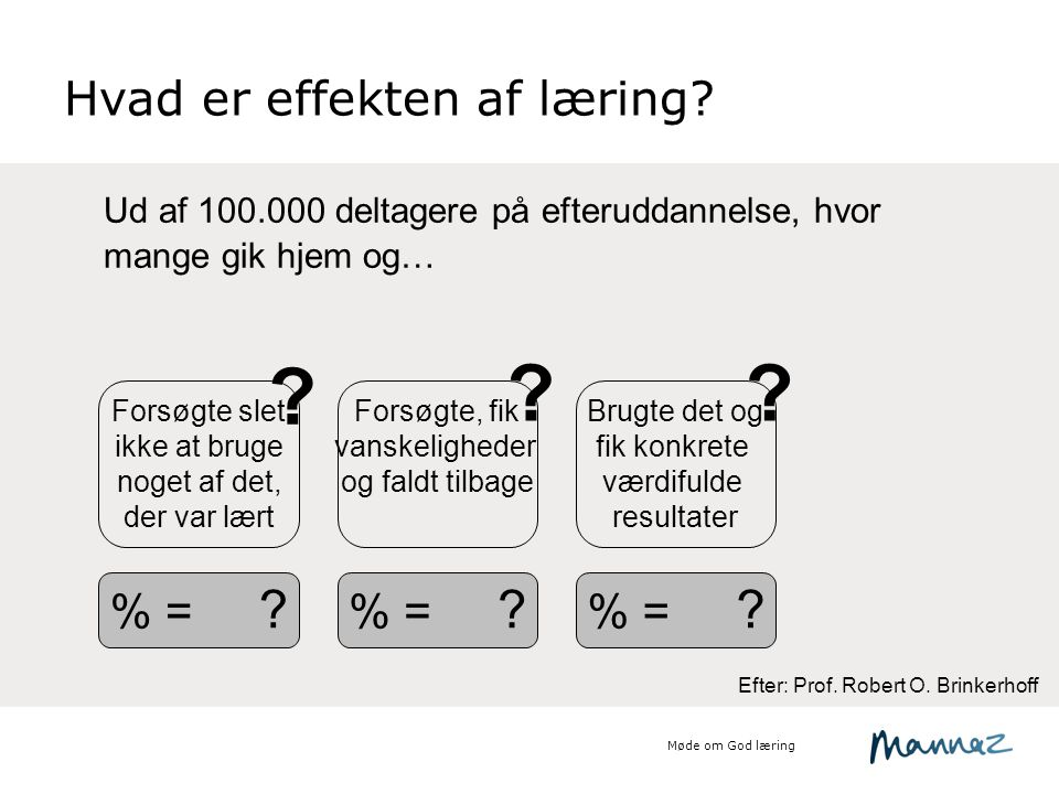 Hvad er effekten af læring