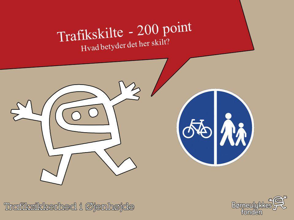 Trafikskilte - 200 point Hvad betyder det her skilt