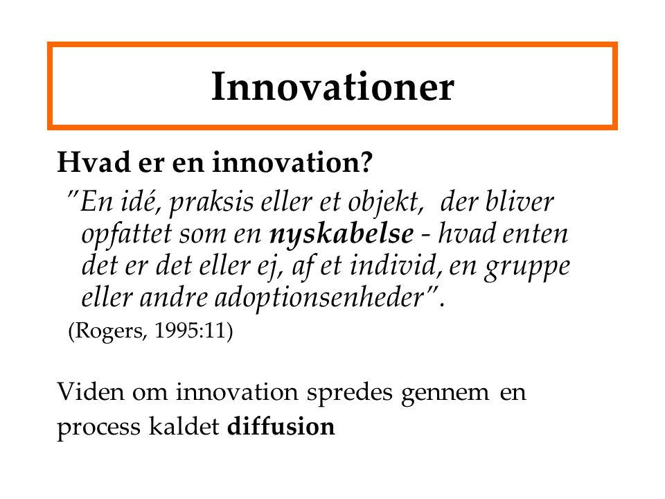 Innovationer Hvad er en innovation