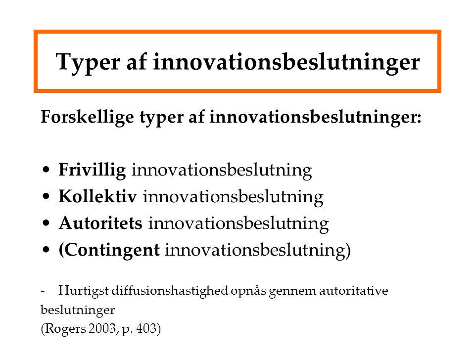Typer af innovationsbeslutninger
