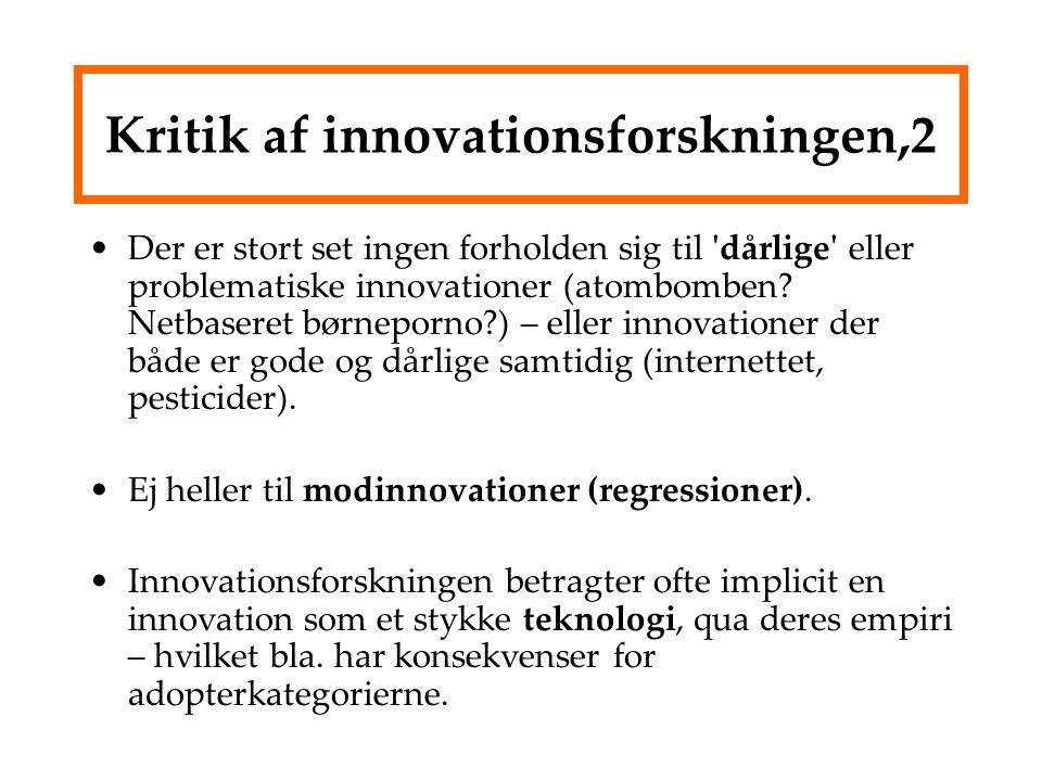 Kritik af innovationsforskningen,2