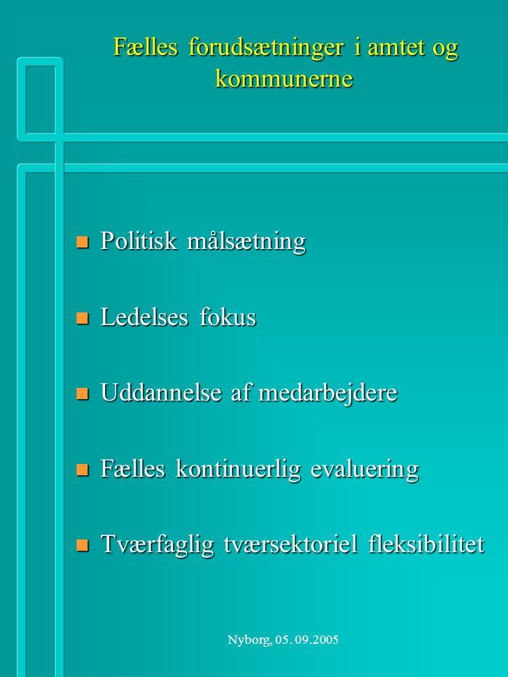Fælles forudsætninger i amtet og kommunerne