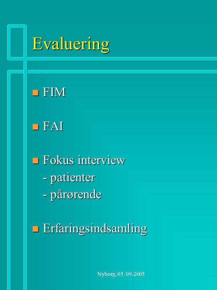 Evaluering FIM FAI Fokus interview - patienter - pårørende