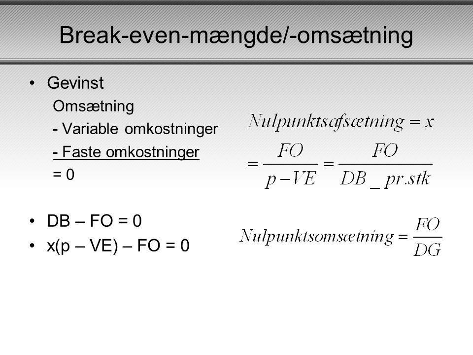 Break-even-mængde/-omsætning