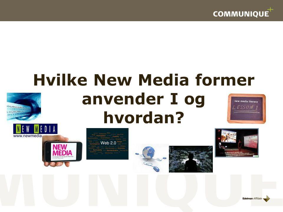 Hvilke New Media former anvender I og