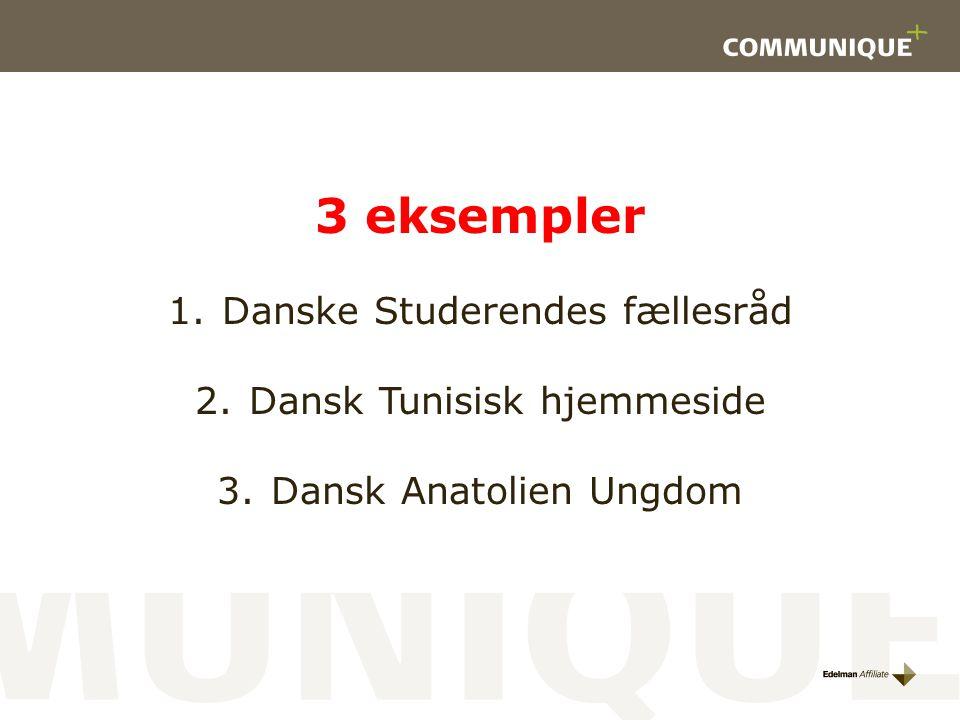 3 eksempler Danske Studerendes fællesråd Dansk Tunisisk hjemmeside