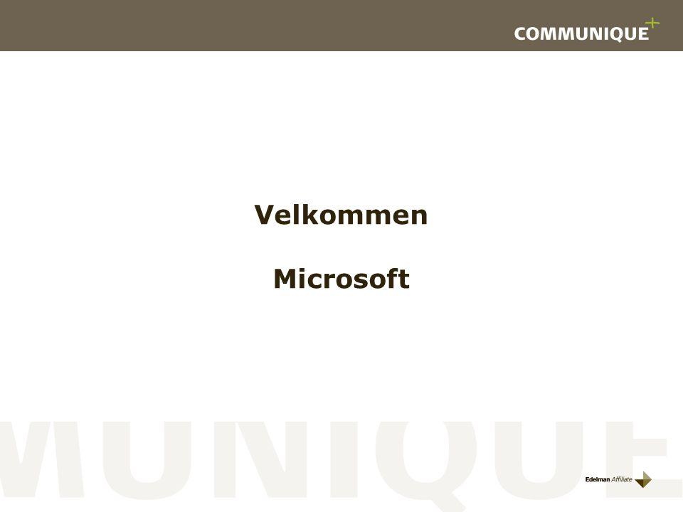Velkommen Microsoft