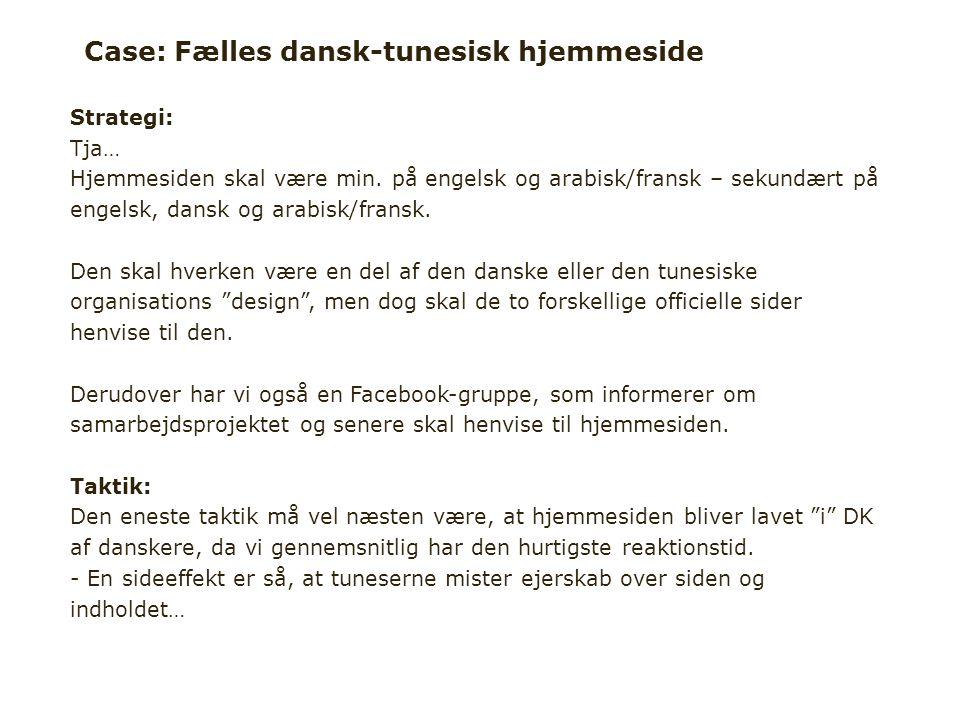 Case: Fælles dansk-tunesisk hjemmeside