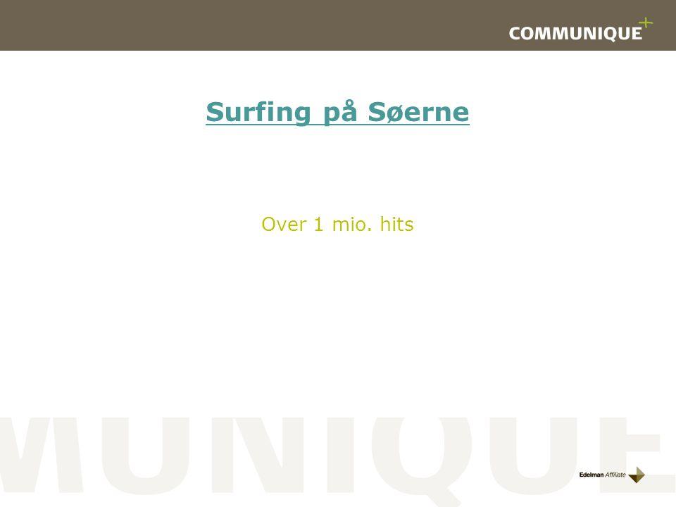 Surfing på Søerne Over 1 mio. hits