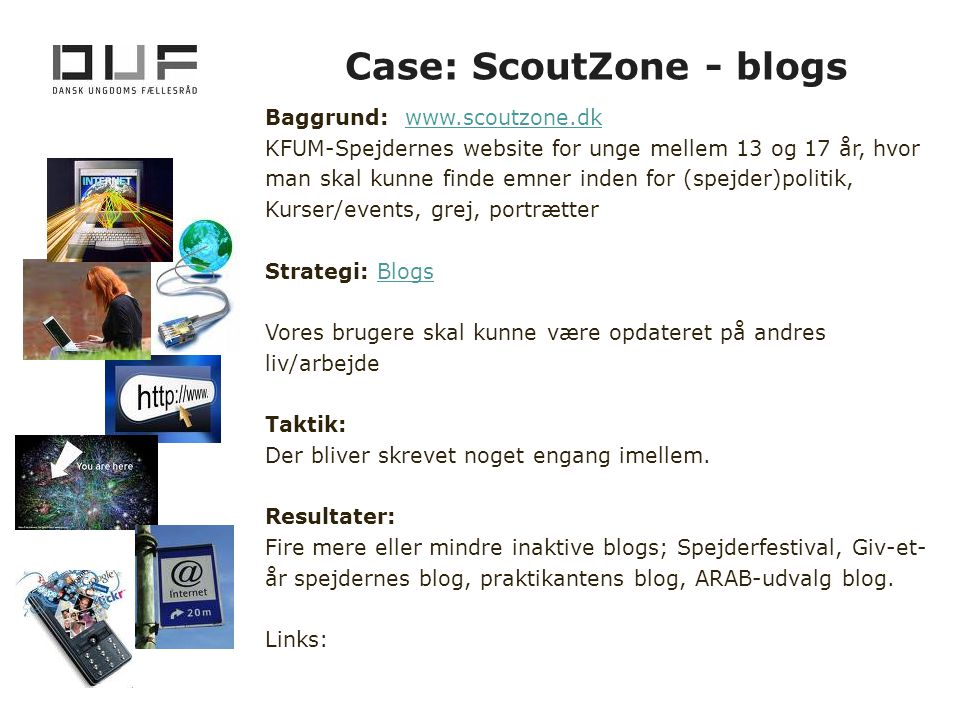 Case: ScoutZone - blogs