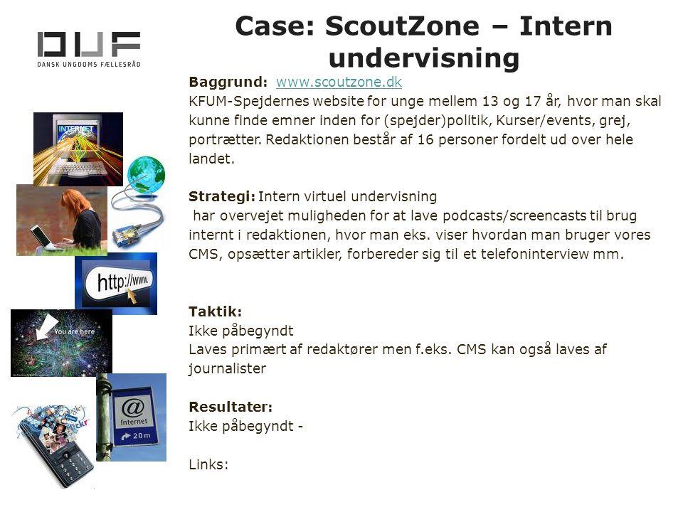 Case: ScoutZone – Intern undervisning