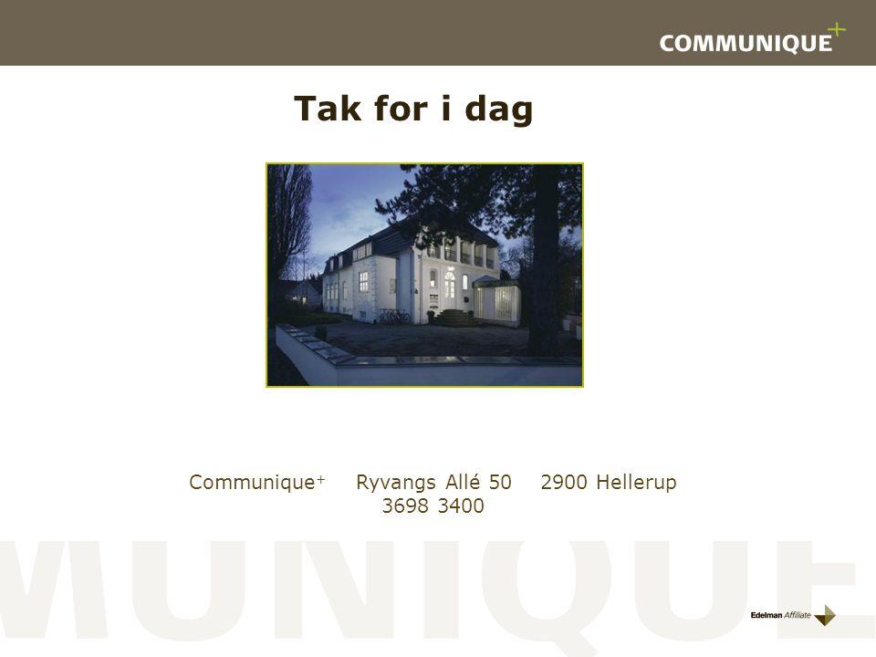 Communique+ Ryvangs Allé 50 2900 Hellerup