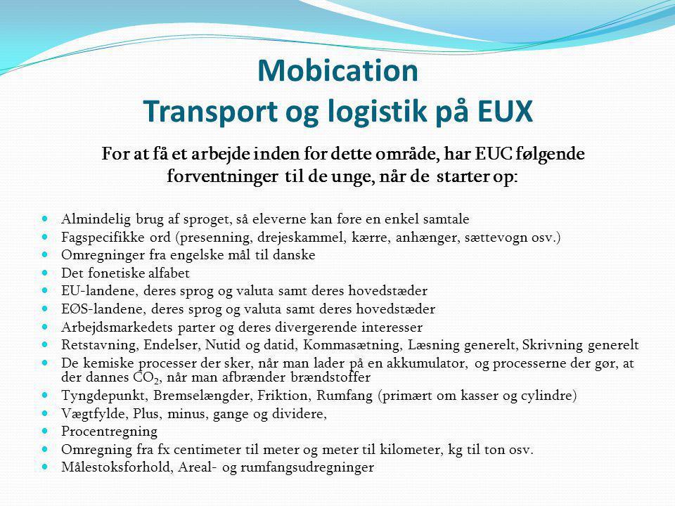 Mobication Transport og logistik på EUX