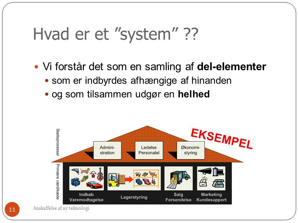 Hvad er et system EKSEMPEL